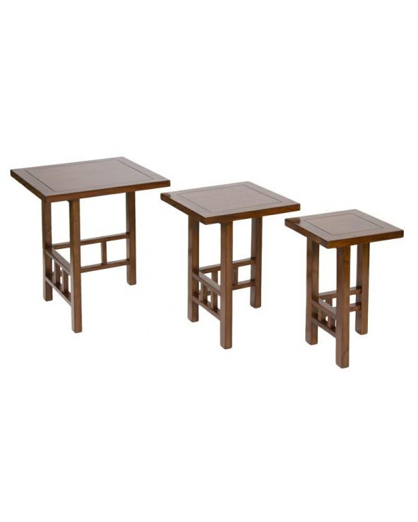 Set 3 mesas nido madera...