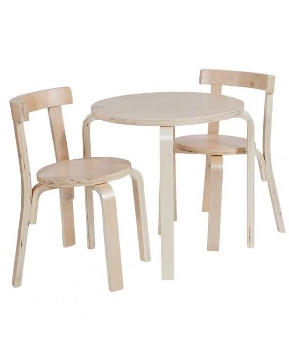 Conjunto mesa 2 sillas Lisa...