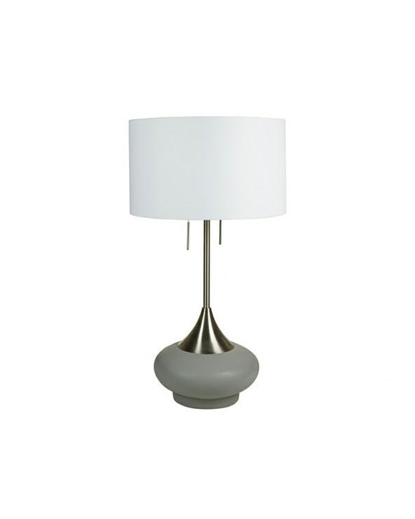 Lámpara mesa cemento latón...