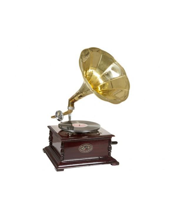 Gramófono cuadrado latón...