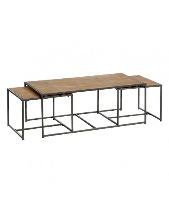 Set 3 mesas Jaén madera...