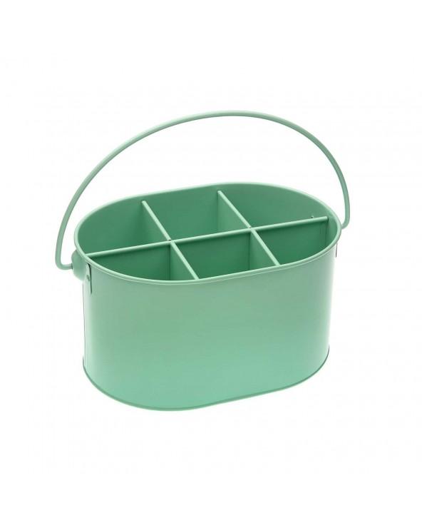 Botellero metal verde 24x18x13