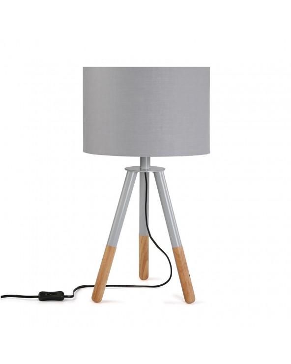 Lámpara de mesa Nadina gris...