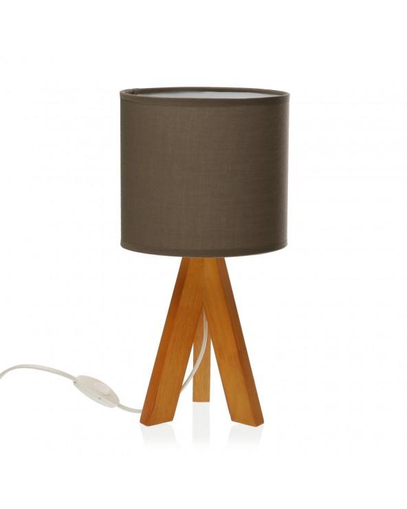 Lámpara de mesa pardo...
