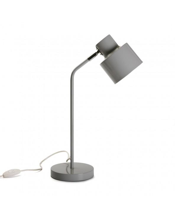 Lámpara de mesa tubo gris...