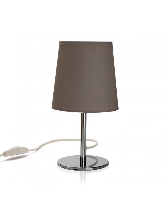 Lámpara mesa taupe metal...