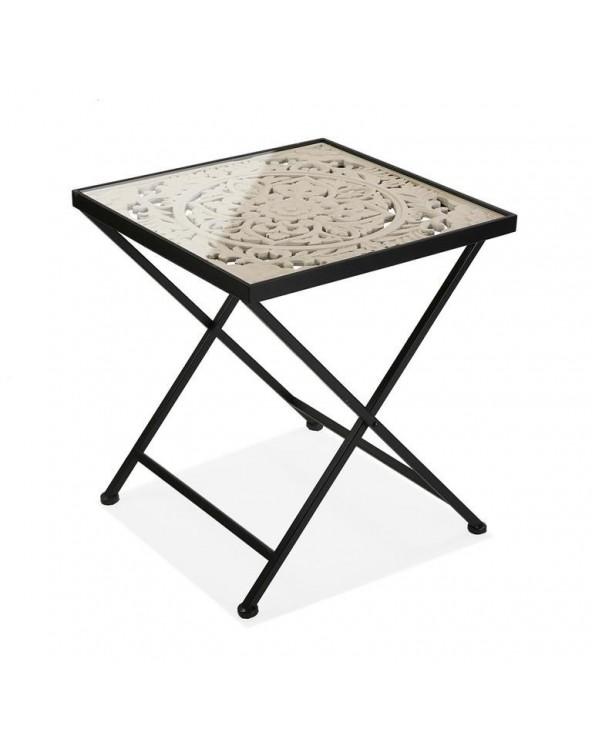 Mesa plegable madera 50x50x56