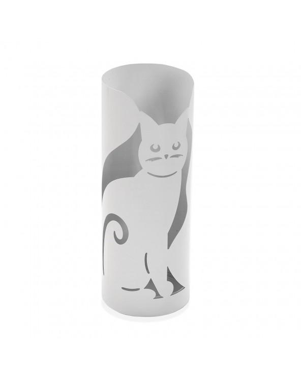Paragüero gato blanco metal...