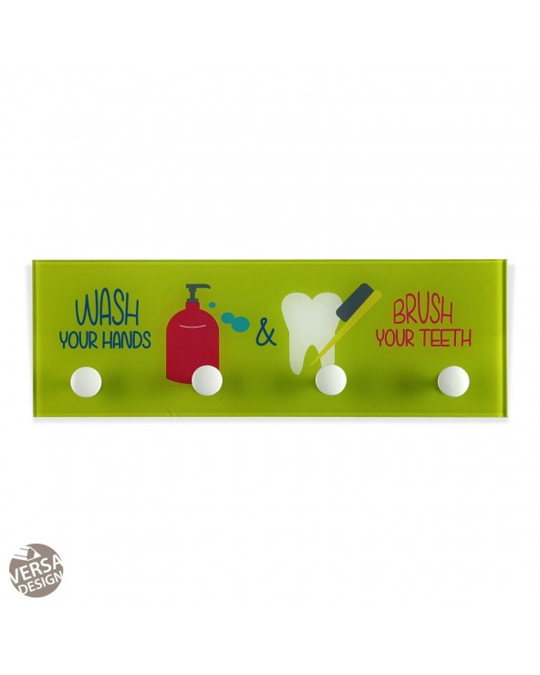 Perchero wash & brush verde...