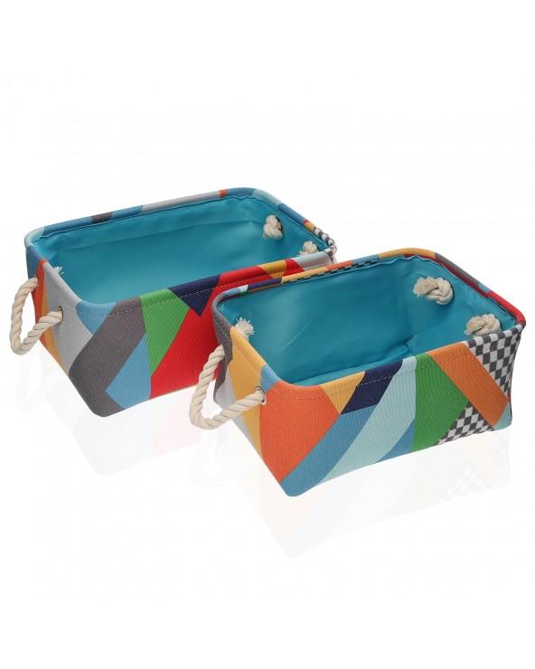 Set 2 cestas Braiss textil...