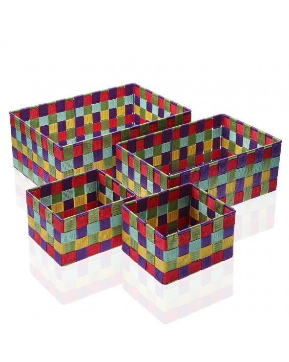 Set 4 cajas Giardino textil...