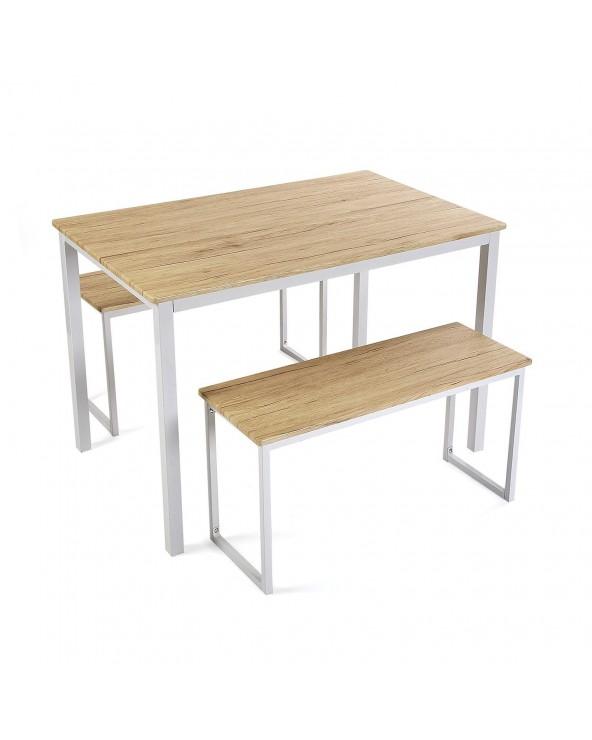 Set mesa con dos bancos...