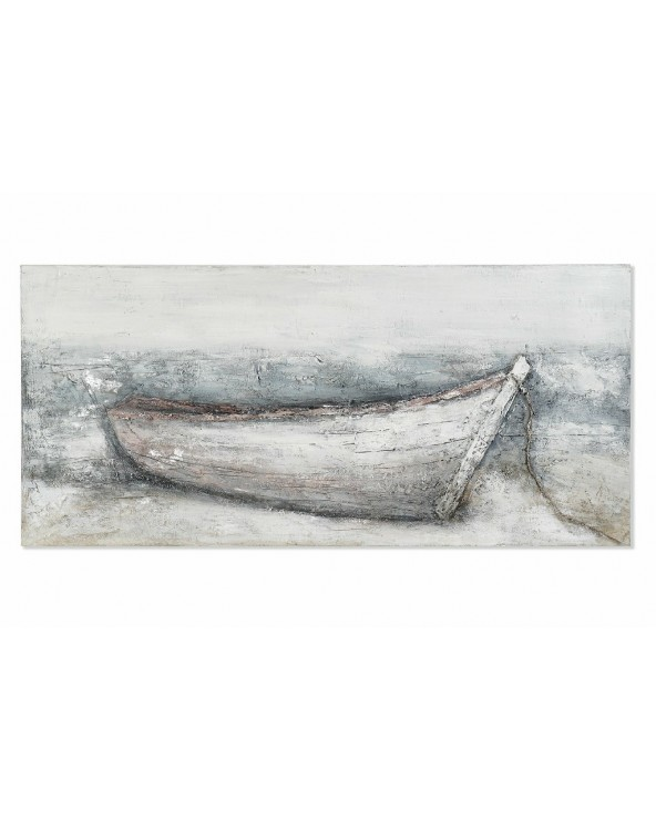 Cuadro barca lienzo pintado...