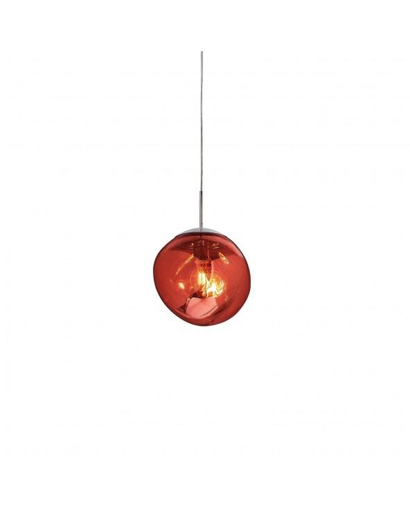 Lámpara de techo roja...