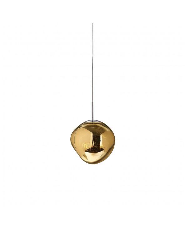 Lámpara de techo dorada...