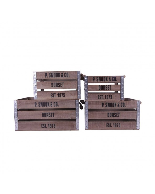 Set 4 cajas de madera Lomr