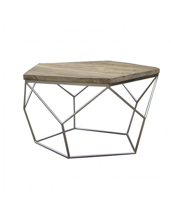 Mesa de centro de madera de...