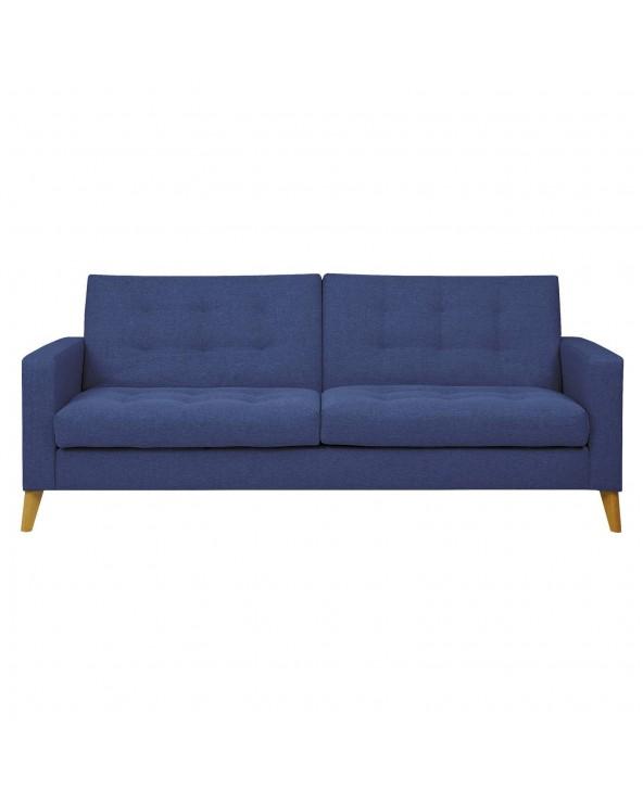 Sofá cama tapizado en azul...