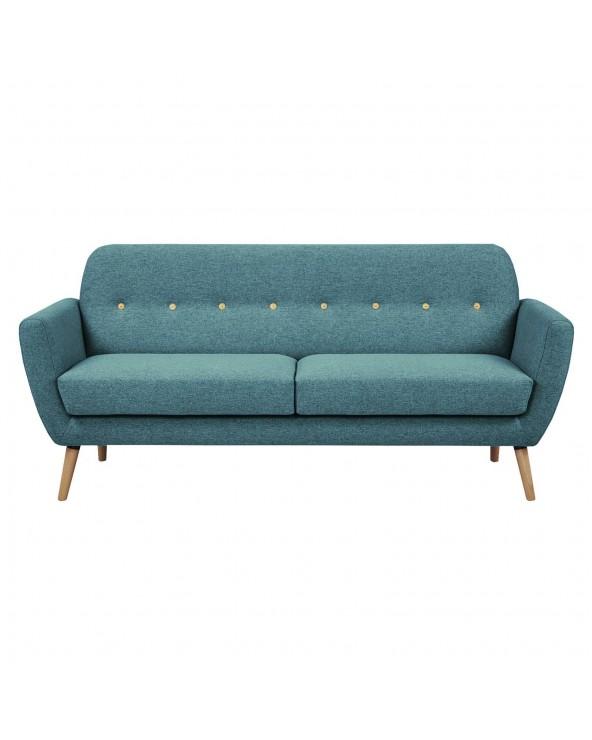 Sofá tapizado azul verdoso...