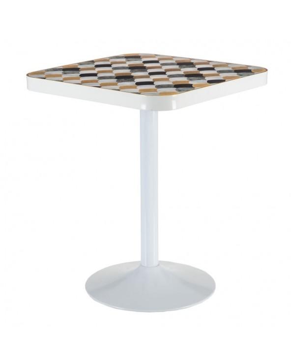 Mesa café cuadrada metal...