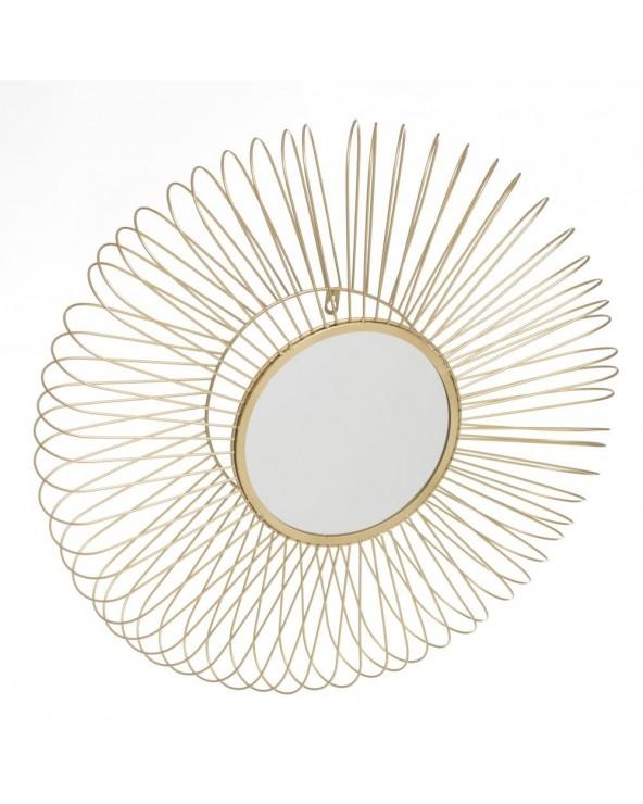 Espejo Flor metal dorado...
