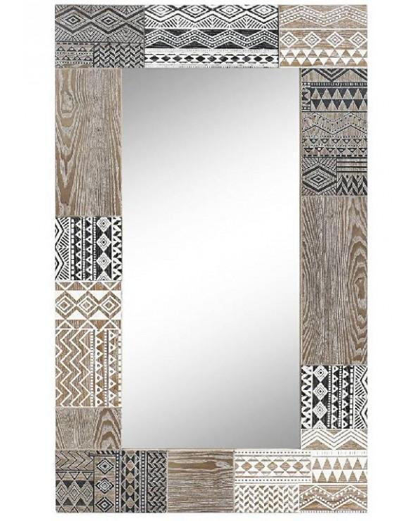 Espejo pared África madera...