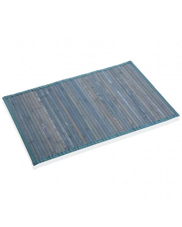 Alfombra bambú azul 50x80x2...