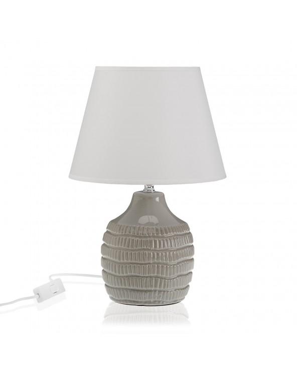 Lámpara rayas gris cerámica...