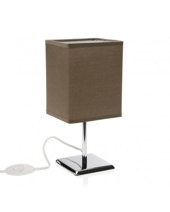 Lámpara de mesa pardo metal...