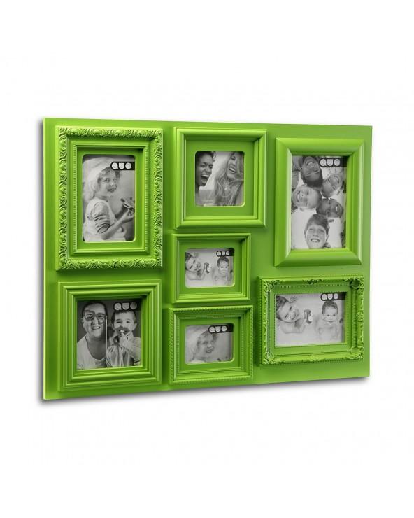 Portafotos 7 ventanas verde...