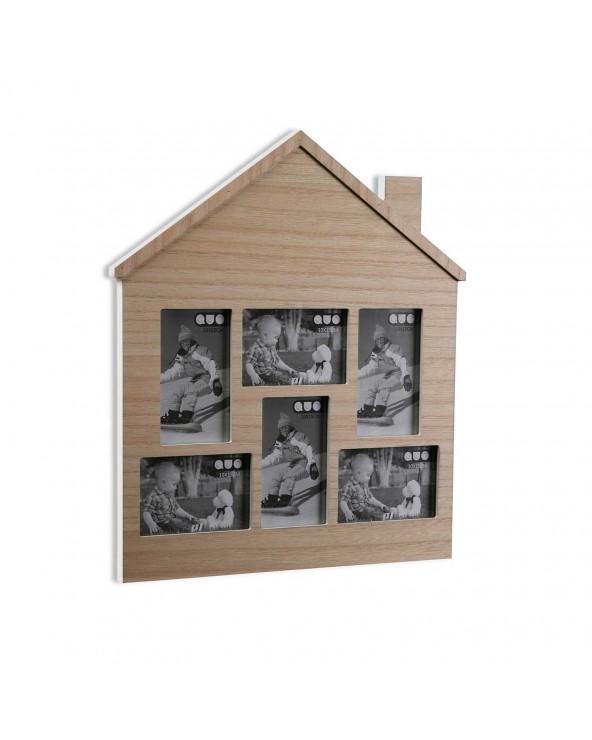 Portafotos casita madera...
