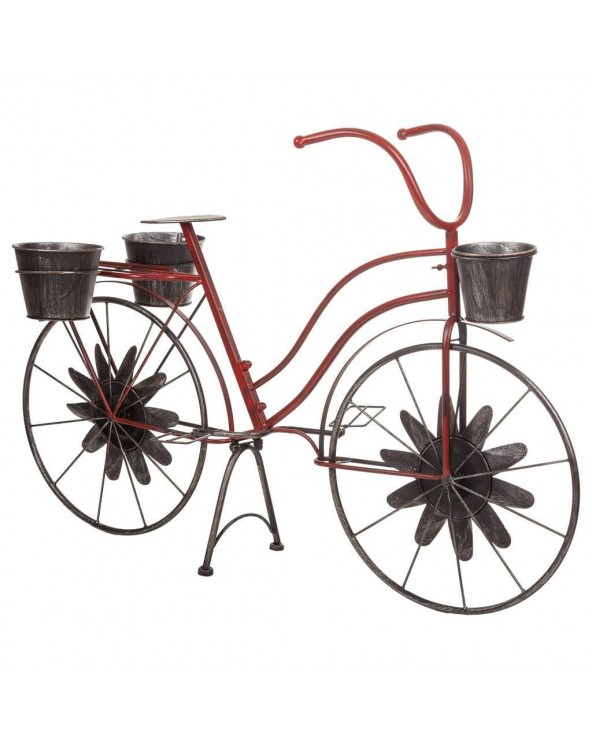 Bicicleta macetero metal...