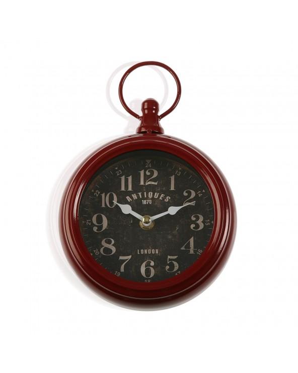 Reloj pared rojo 16x23 cm...