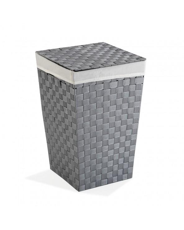 Cesto ropa gris 33x33x52 tela
