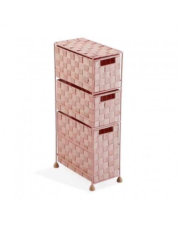 Mueble baño 3 cajones rosa...