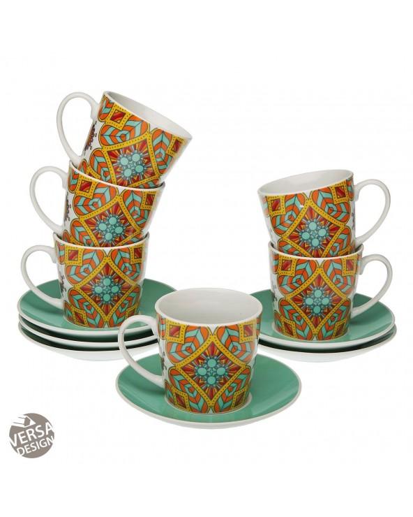 Set 6 tazas de té con plato...