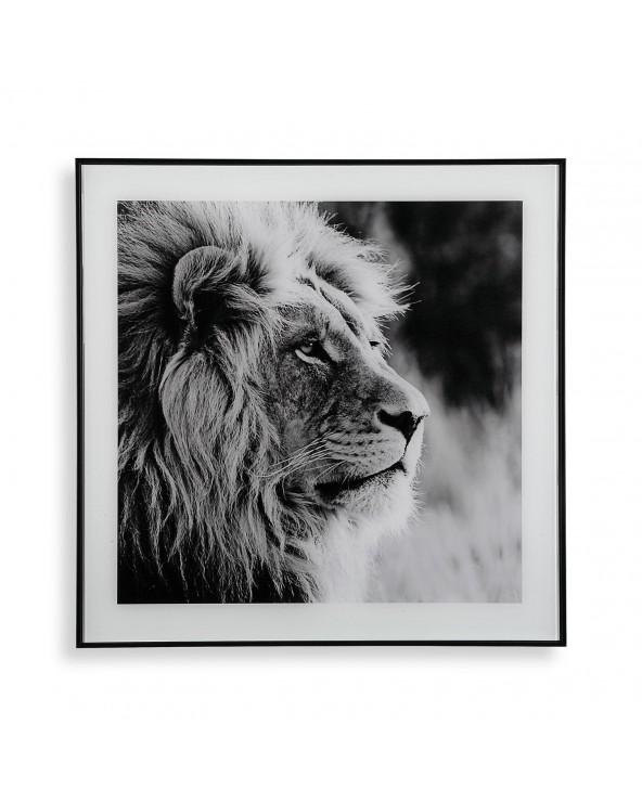 Cuadro cristal león 2x50x50...