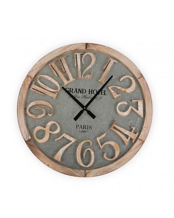 Reloj pared madera 60 cm...