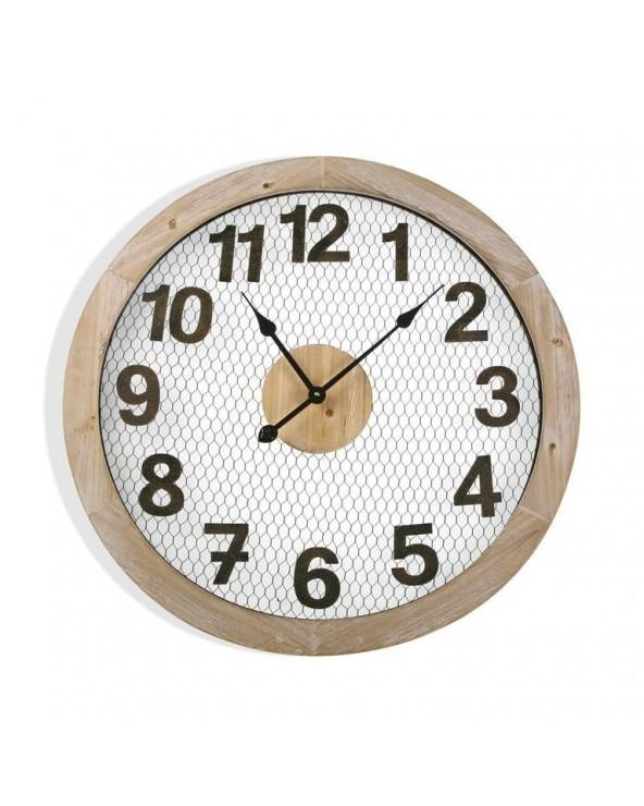Reloj pared madera 70 cm...
