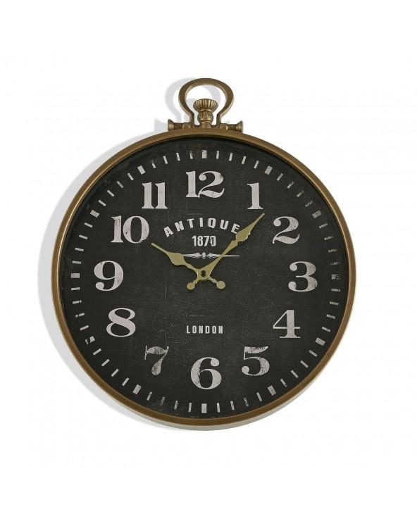 Reloj pared metal antiques...