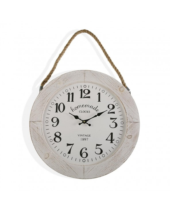 Reloj pared madera homemade...