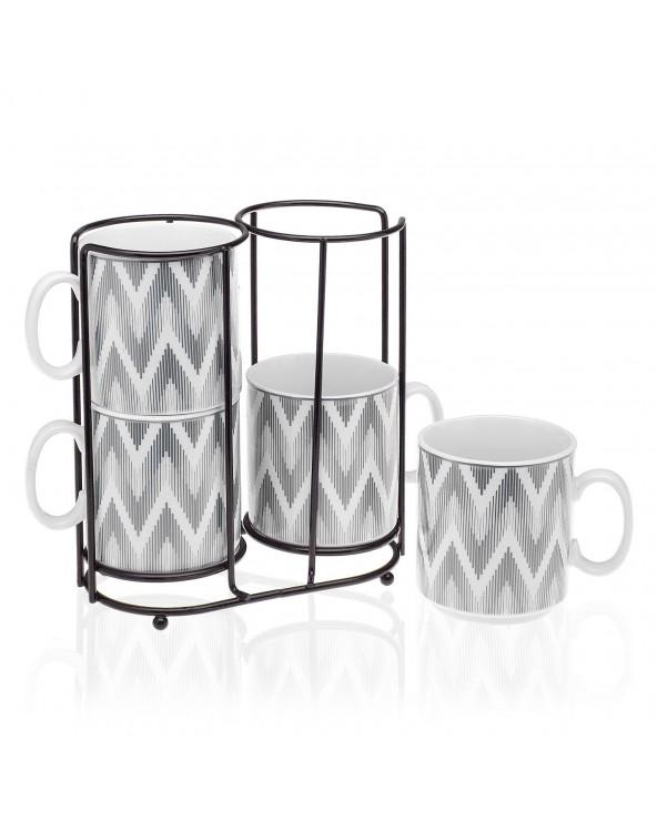 Set 4 mugs con stand...
