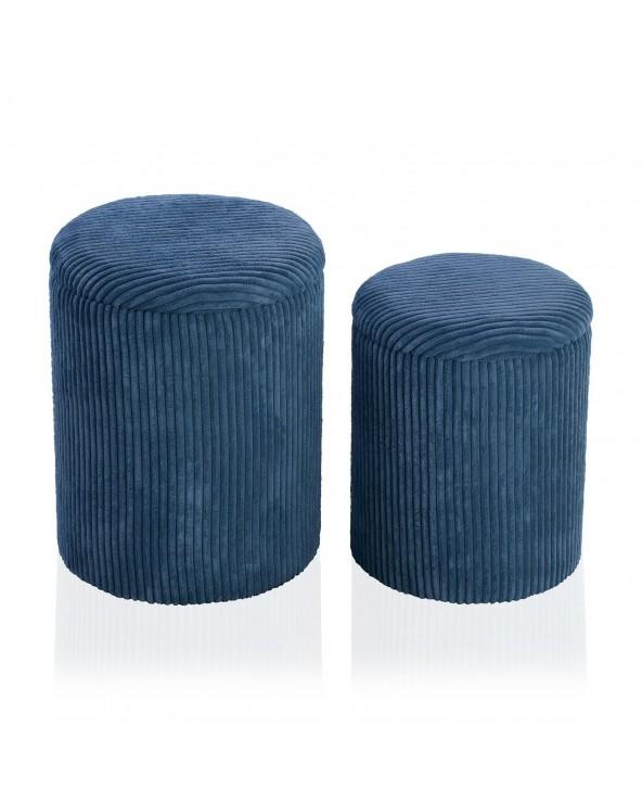 Set 2 pufs azul 35x35x44...