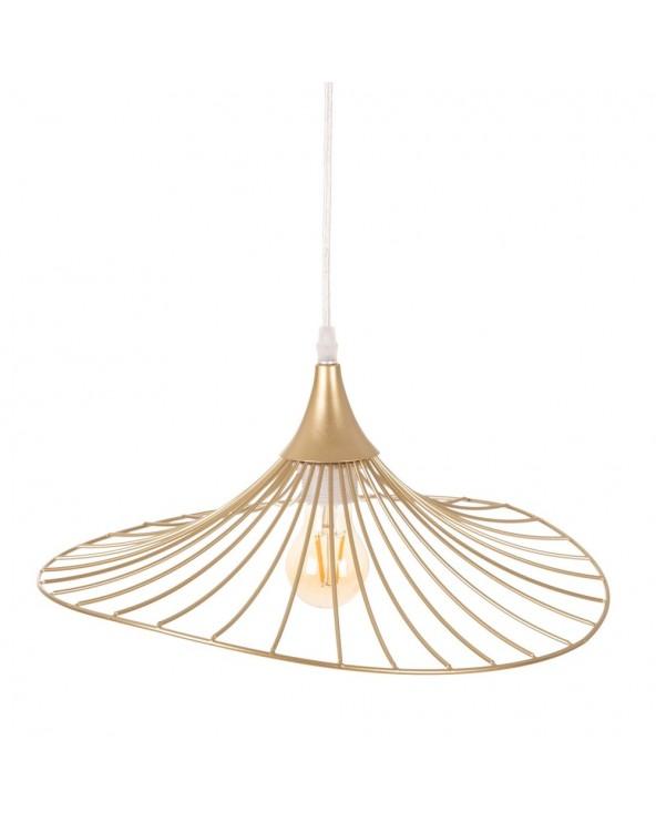 Lámpara techo oro metal...