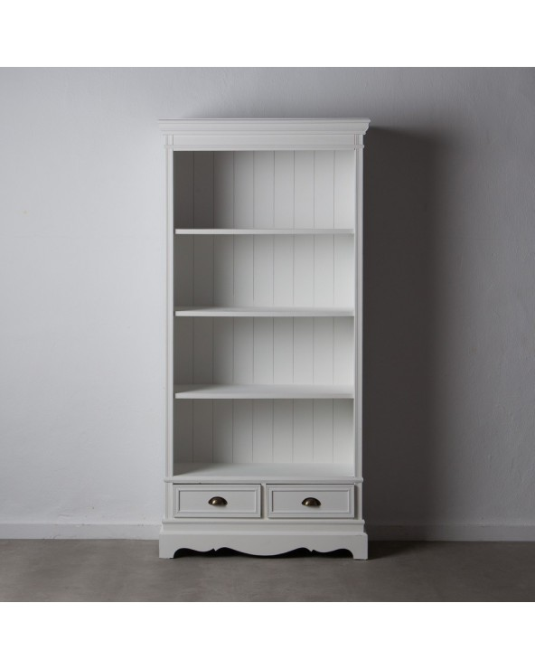 Librería blanco madera...