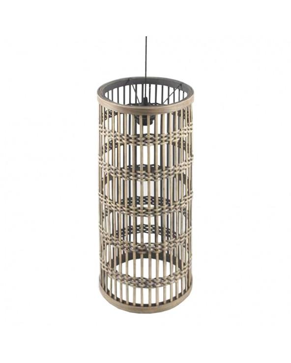 Lámpara techo natural bambú...