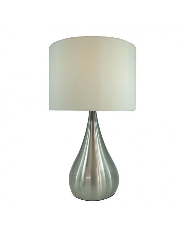 Lámpara mesa plata metal y...