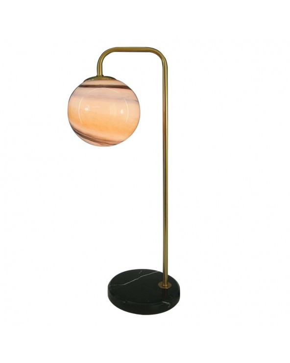 Lámpara mesa oro negro...