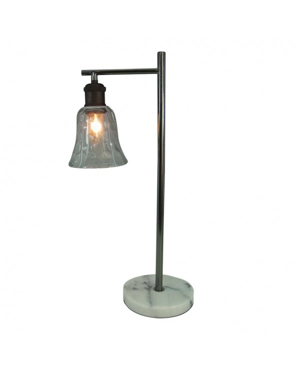 Lámpara mesa níquel metal y...