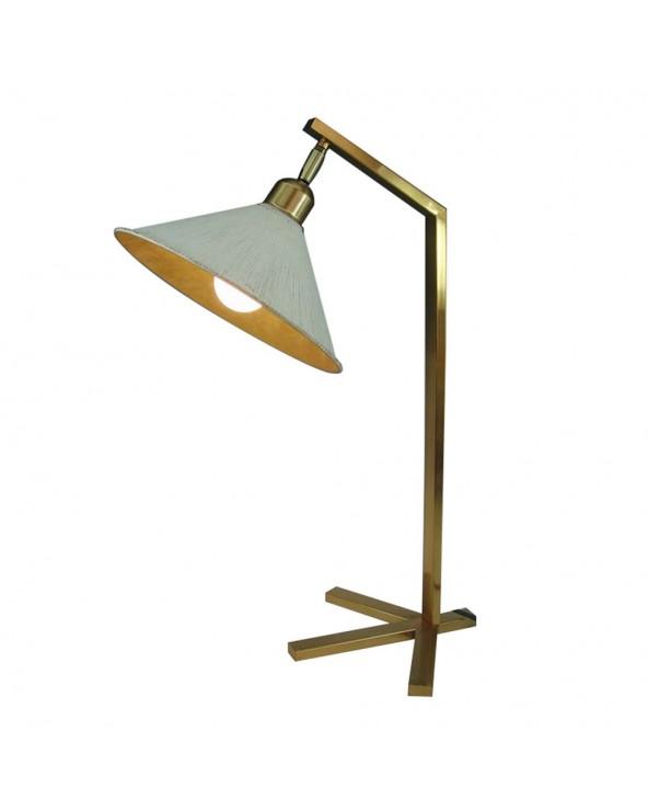 Lámpara mesa oro blanco...